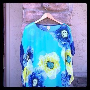 JM collection butterfly sleeve top